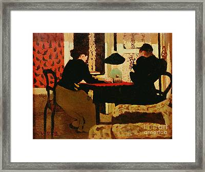Women By Lamplight Framed Print by vVuillard