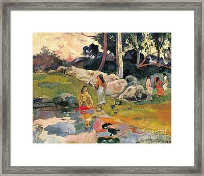 Women By The Riverside Framed Print