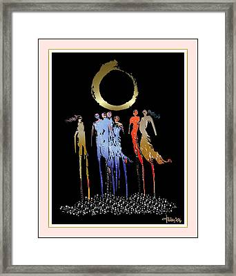 Women Chanting - Enso  Framed Print