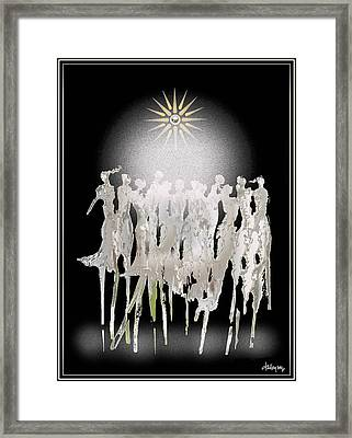 Women Chanting - Spirit Dance Framed Print