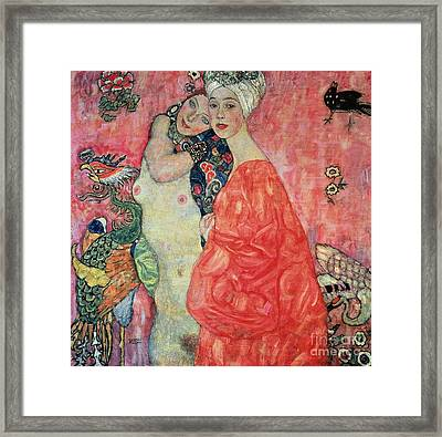 Women Friends Framed Print by Gustav Klimt