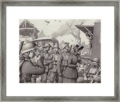 Women From The Salvation Army During The Great War Framed Print by Pat Nicolle
