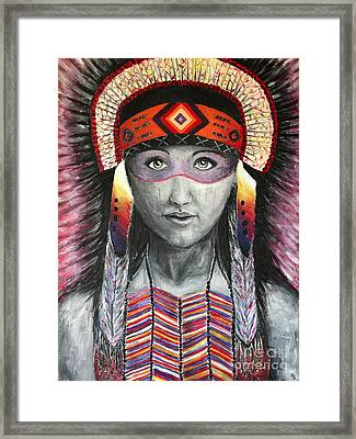 Women From The Tribe Framed Print by Home Art