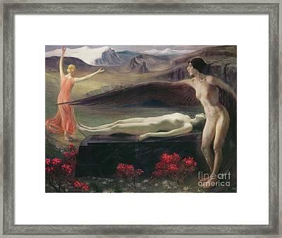 Women In A Landscape Framed Print