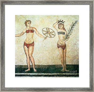Women In Bikinis From The Room Of The Ten Dancing Girls Framed Print by Roman School