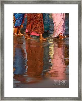 Women In Saris Framed Print