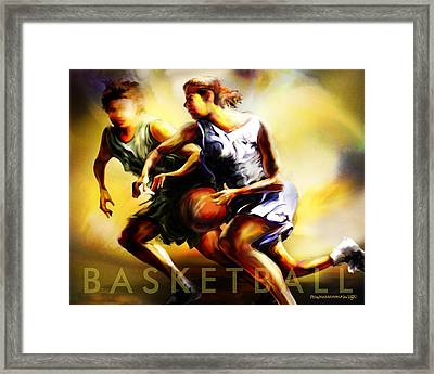 Women In Sports - Basketball Framed Print