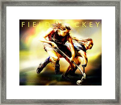 Women In Sports - Field Hockey Framed Print