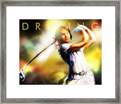 Women In Sports - Golf Framed Print