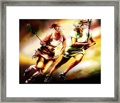 Women In Sports - Lacrosse Framed Print