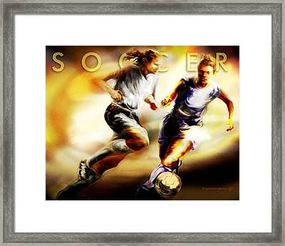Women In Sports - Soccer Framed Print