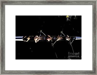 Women Rowing Framed Print by David Lee Thompson