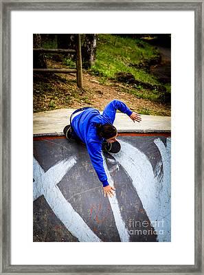 Women Skateboarders  Framed Print by Carl Warren