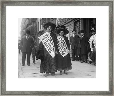 Women Strike Pickets From Ladies Framed Print by Everett