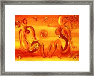 Women Sunning Framed Print by Shelley Bain