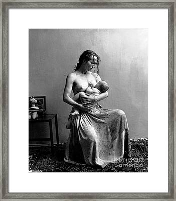 Women The Nourishment Of The World Framed Print by Pg Reproductions