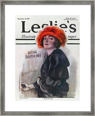 Women Voting, 1920 Framed Print by Granger