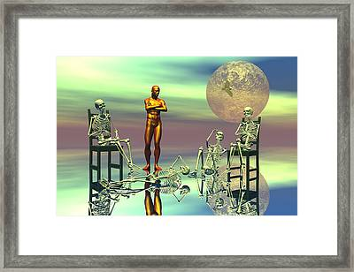 Women Waiting For The Perfect Man Framed Print by Claude McCoy