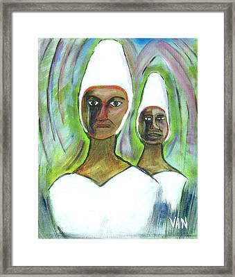 Women With Hair Covered Framed Print by Van Winslow