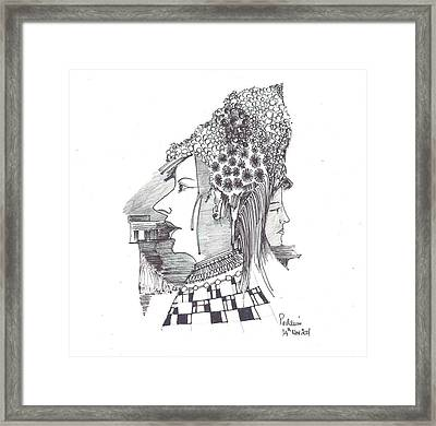 Women With Headgear Framed Print by Padamvir Singh