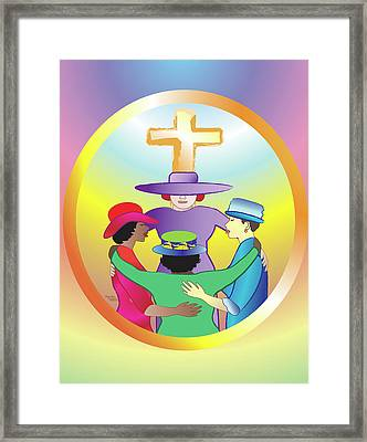 Women's Circle Of Faith Framed Print