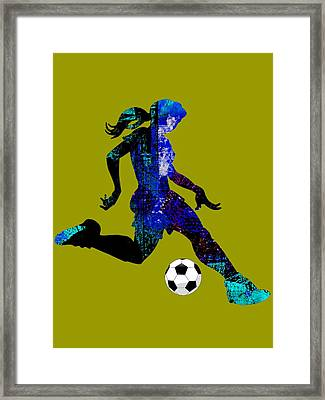 Womens Girls Soccer Collection Framed Print by Marvin Blaine