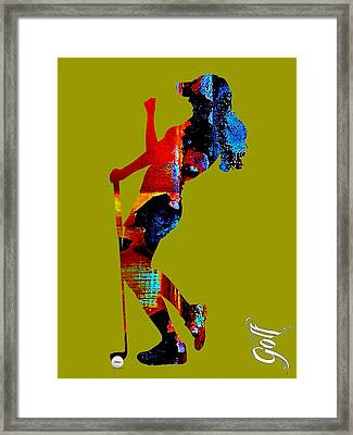 Womens Golf Collection Framed Print