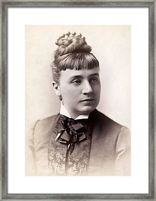 Womens Hairstyle, 1880s Framed Print