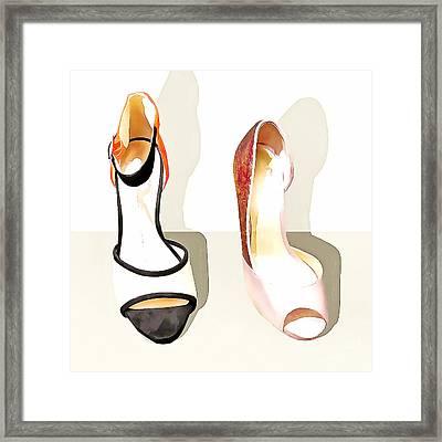 Womens High Heel Stiletto Shoes 20160227 Square V1 Framed Print