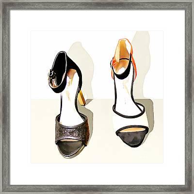 Womens High Heel Stiletto Shoes 20160227 Square V2 Framed Print
