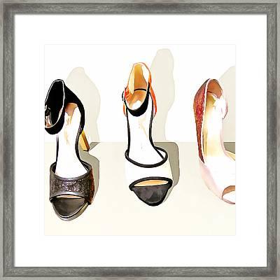 Womens High Heel Stiletto Shoes 20160227 Square V3 Framed Print