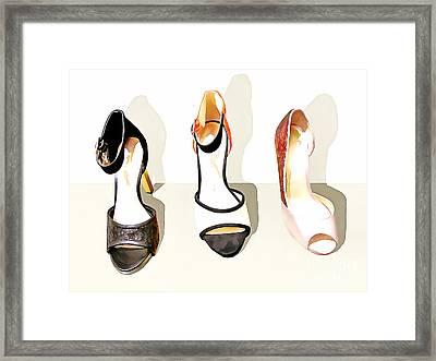 Womens High Heel Stiletto Shoes 20160227 Framed Print