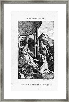 Womens Rights, 1792 Framed Print by Granger