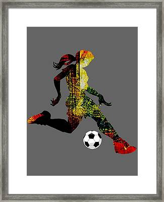 Womens Soccer Collection Framed Print