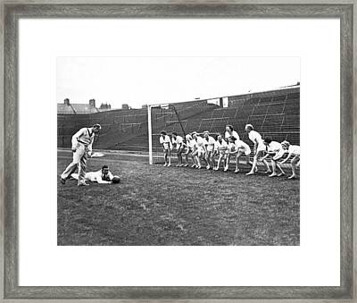 Women's Soccer Team Lineup Framed Print by Underwood Archives