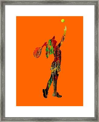 Womens Tennis Collection Framed Print