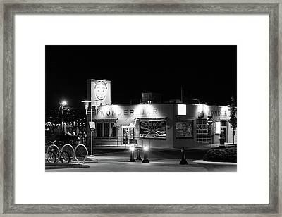 Wonder Bar At Night Framed Print by Erin Cadigan