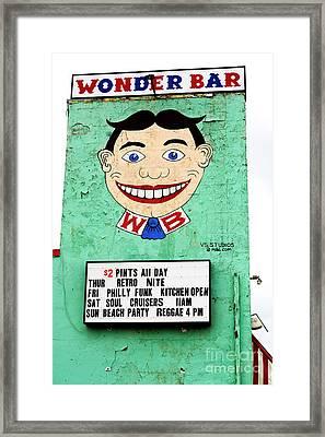 Wonder Bar Tillie Framed Print