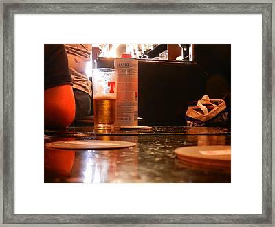 Wonder If They Neck It Framed Print by Nik Watt