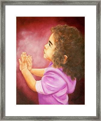 Wonder Framed Print by Joni McPherson