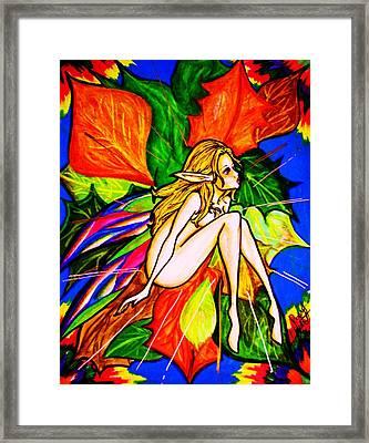 Wonder Framed Print by Penny  Elliott