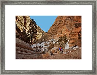 Wonder - Tent Rocks - New Mexico Framed Print