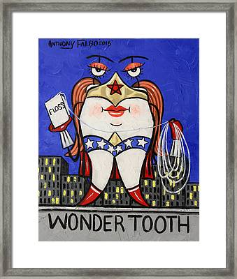 Wonder Tooth Framed Print