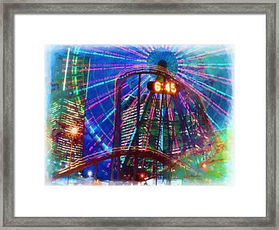 Wonder Wheel At The Coney Island Amusement Park Framed Print by Lanjee Chee