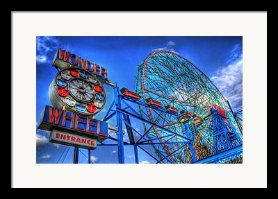 Coney Island Framed Prints