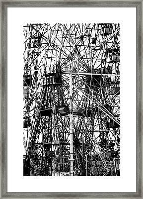 Wonder Wheel Coney Island Framed Print by Jeff Breiman