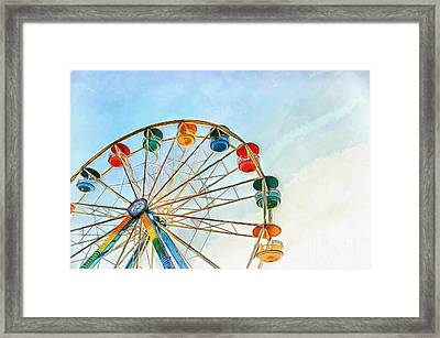 Framed Print featuring the painting Wonder Wheel by Edward Fielding