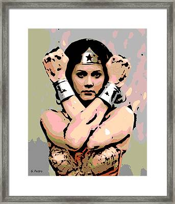Wonder Woman Framed Print by George Pedro