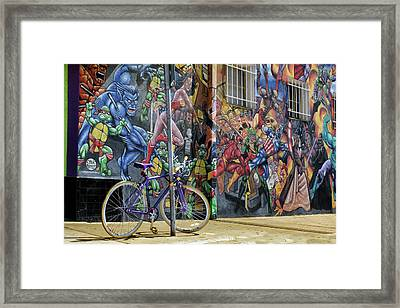Wonder Woman's Bike Framed Print by Nikolyn McDonald