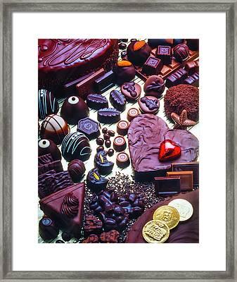 Wonderful Assortment Of Chocolate Framed Print